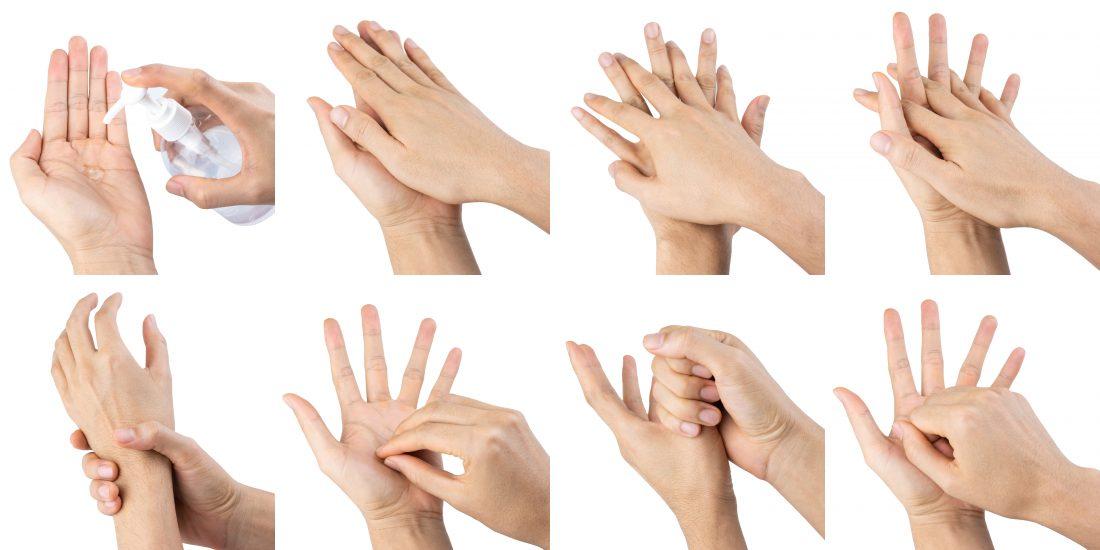 How to apply hand sanitiser